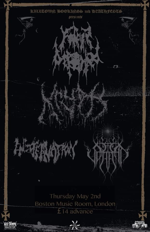 Father Befouled Krypts Encoffination Jupiterian Boston Music Room London 2nd May 2019 UK
