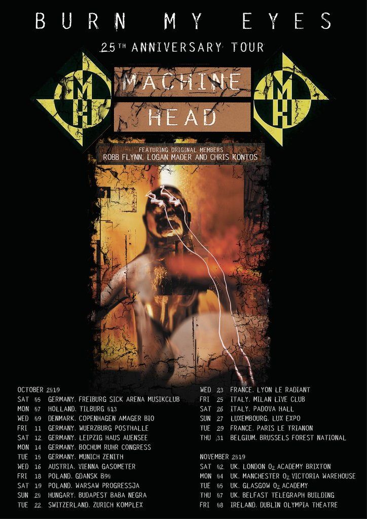 Machine Head tickets European Tour 25th Anniversary Burn My Eyes London Glasgow Manchester