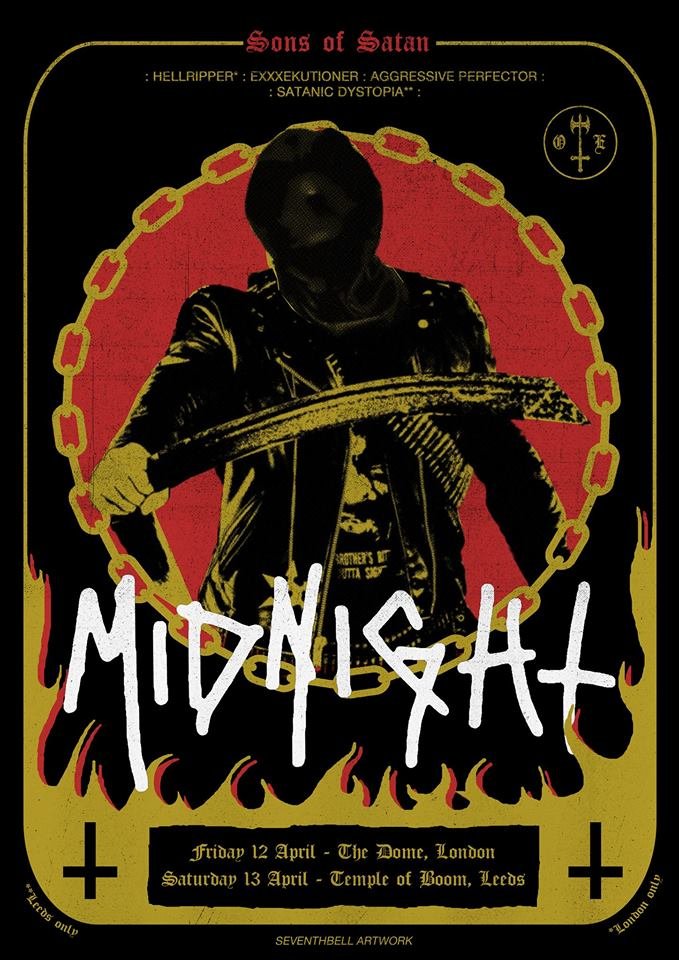 Midnight hellripper heavy sentence aggressive perfector London black thrash gig