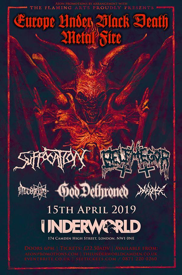 Suffocation Belphegor God Dethroned Camden Underworld London 15th April 2019 Death Metal gig