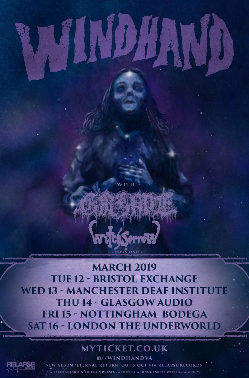Windhand UK Tour March 2019 Grime Witchsorrow doom metal