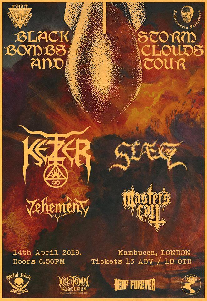 Ketzer and Slaegt Vehement Masters Call Nambucca gig London 14th April 2019